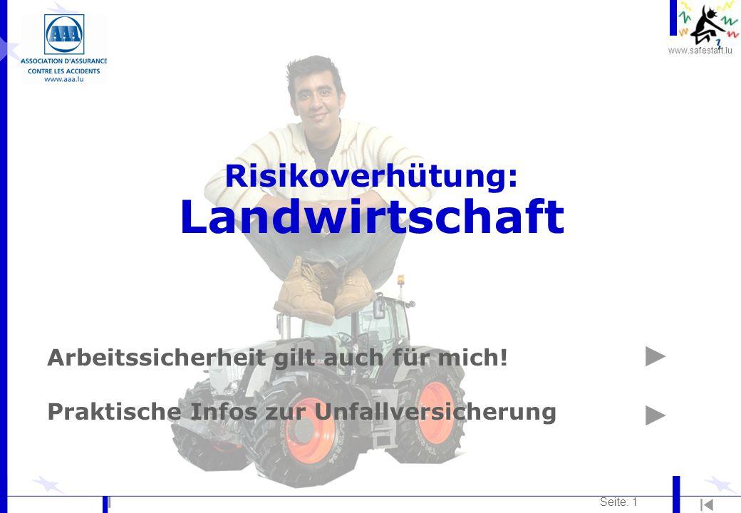 Risikoverhütung: Landwirtschaft