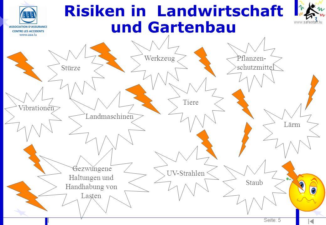 Risiken in Landwirtschaft und Gartenbau