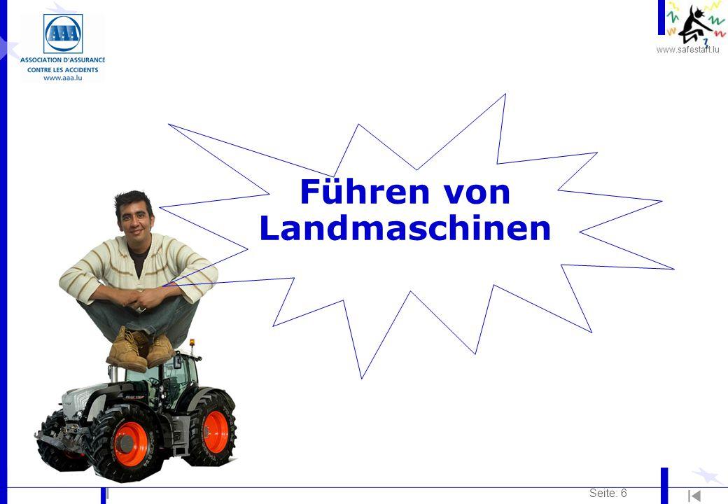 Führen von Landmaschinen