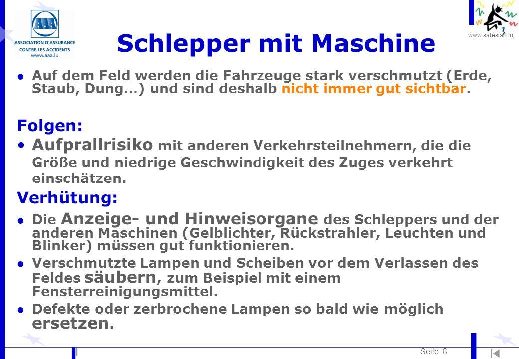 Schlepper mit Maschine