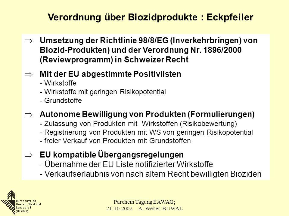Verordnung über Biozidprodukte : Eckpfeiler