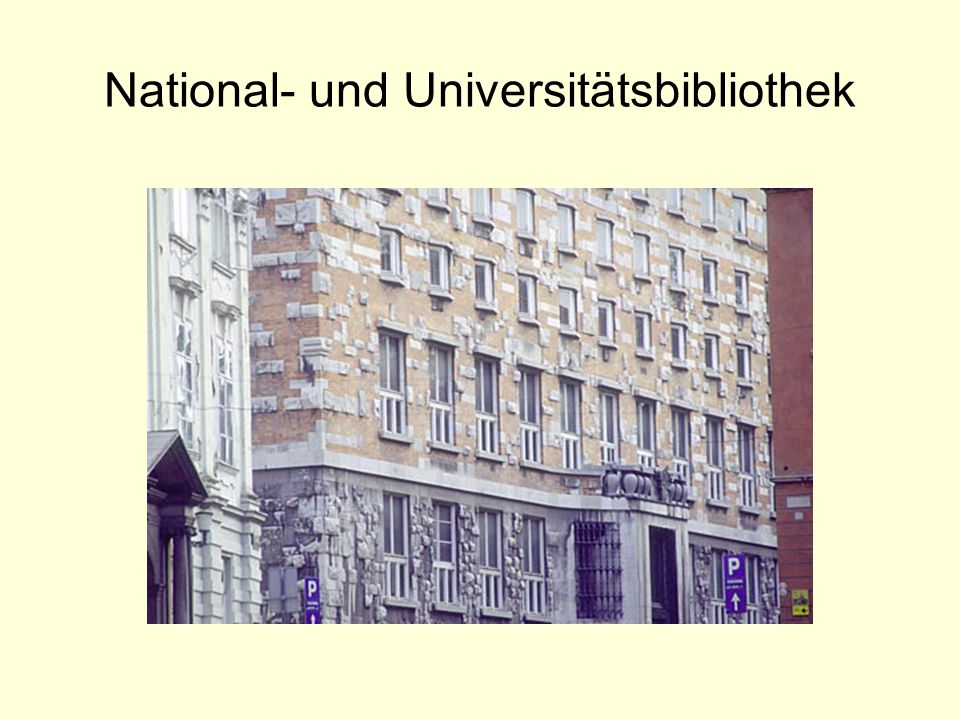 National- und Universitätsbibliothek