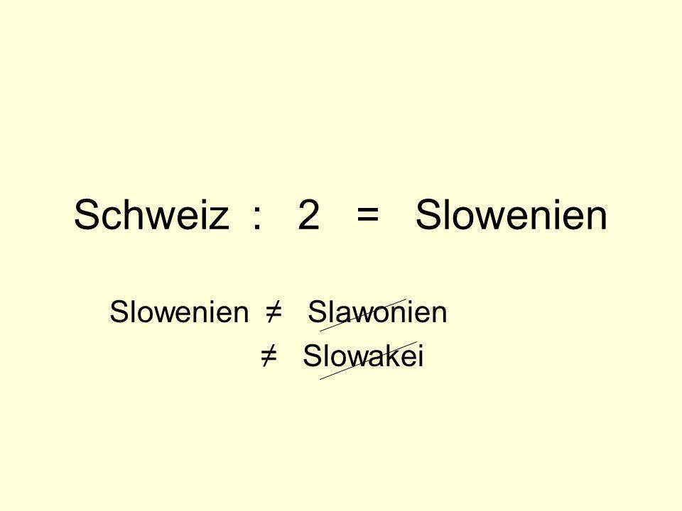 Slowenien ≠ Slawonien ≠ Slowakei