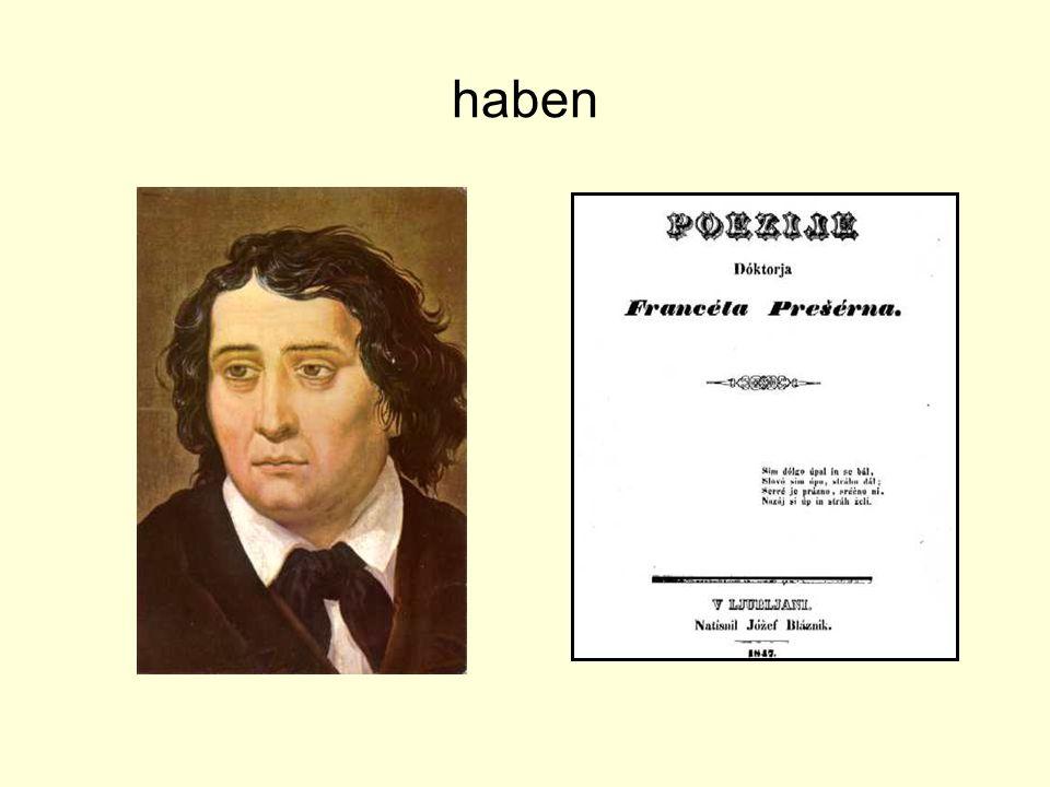 """haben Und die Gedichtsammlung """"Poezije von Prešeren zu Hause haben."""