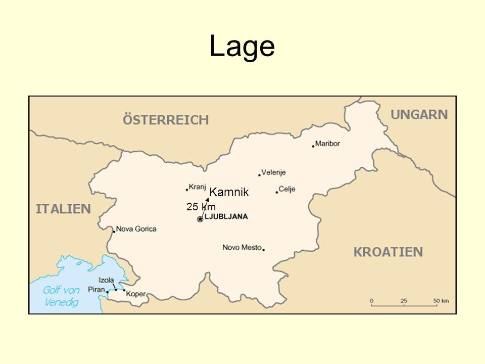 Lage Kamnik 25 km