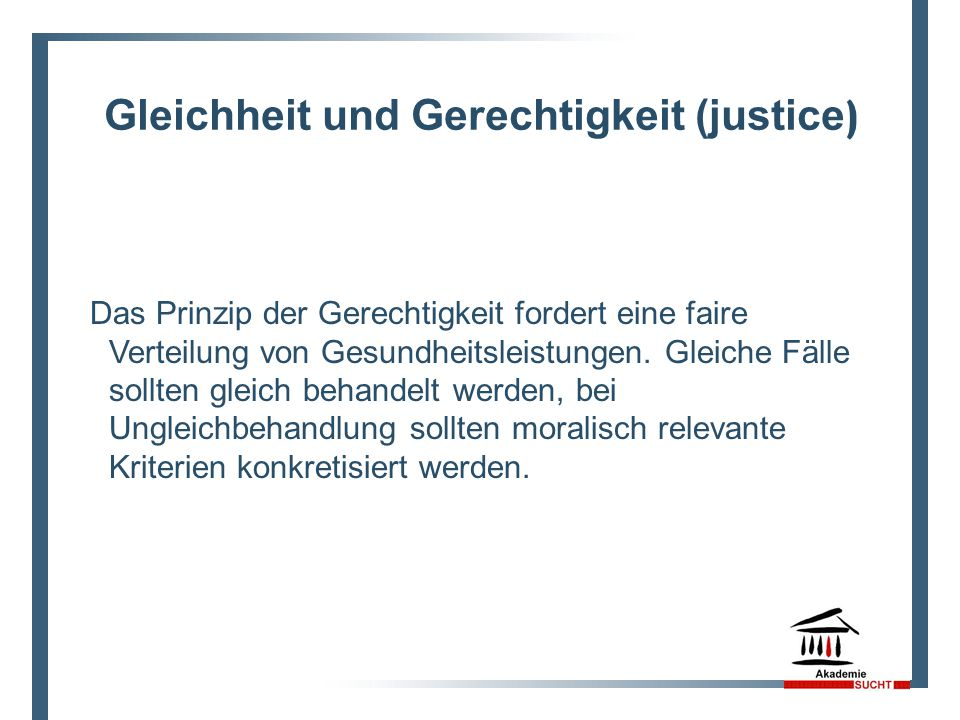 Gleichheit und Gerechtigkeit (justice)