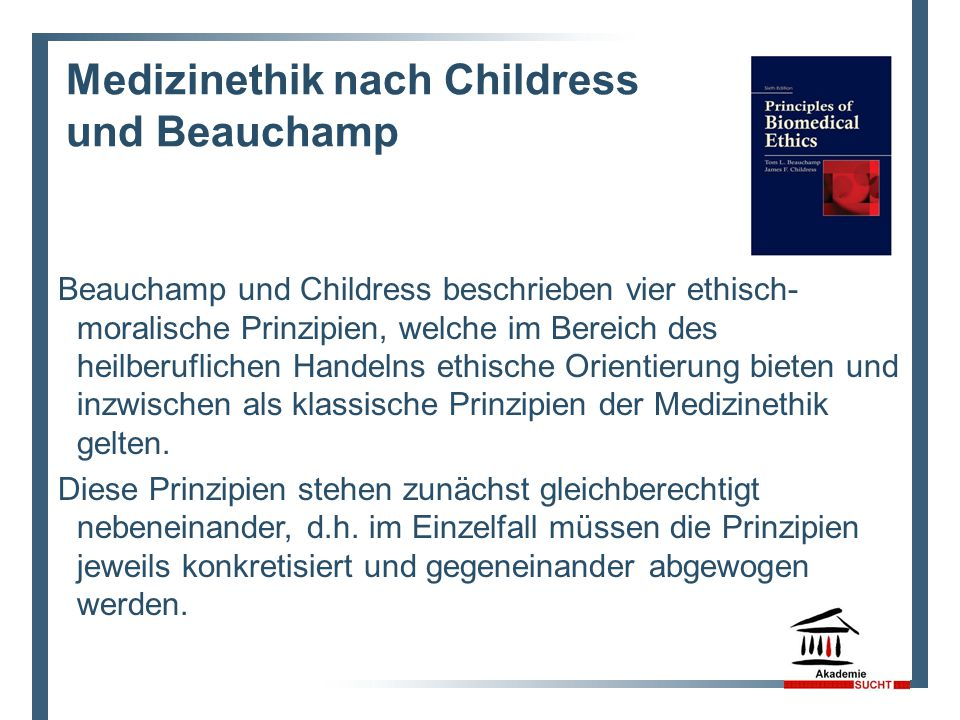 Medizinethik nach Childress und Beauchamp
