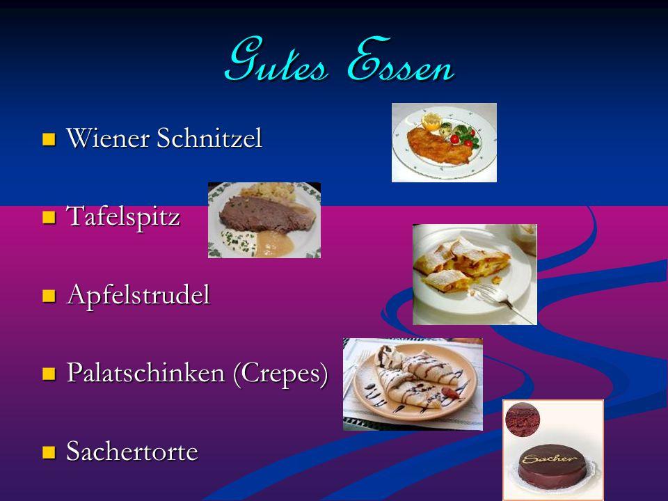 Gutes Essen Wiener Schnitzel Tafelspitz Apfelstrudel