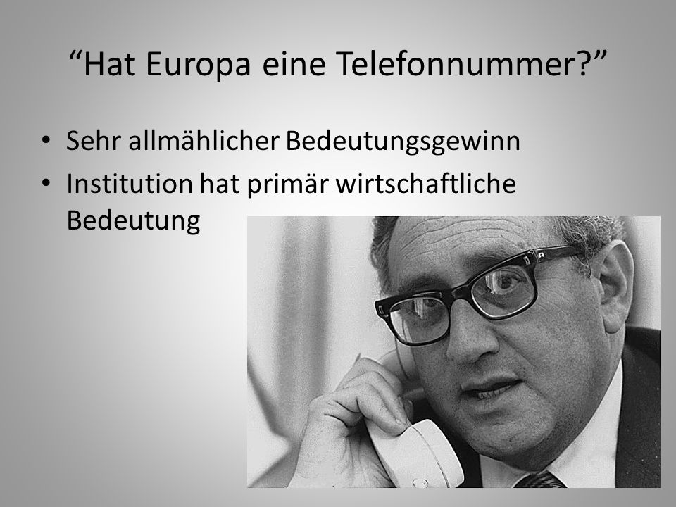 Hat Europa eine Telefonnummer