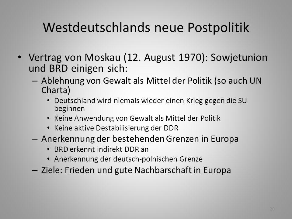 Westdeutschlands neue Postpolitik