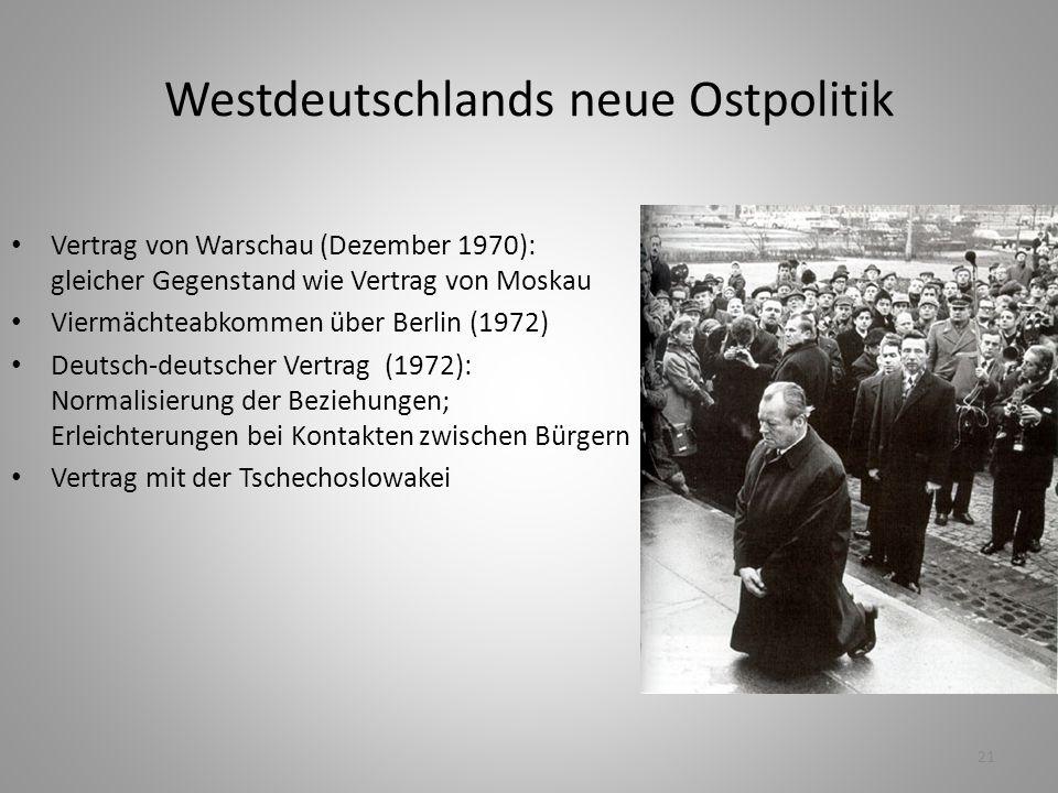Westdeutschlands neue Ostpolitik