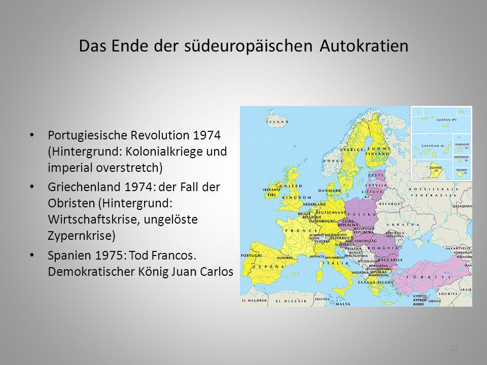 Das Ende der südeuropäischen Autokratien