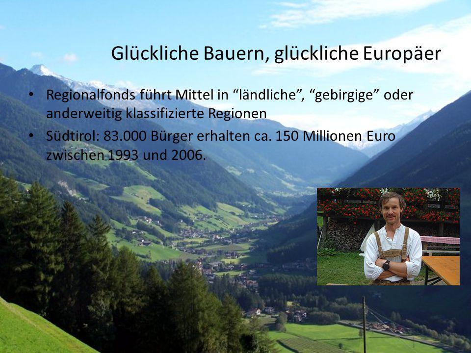 Glückliche Bauern, glückliche Europäer