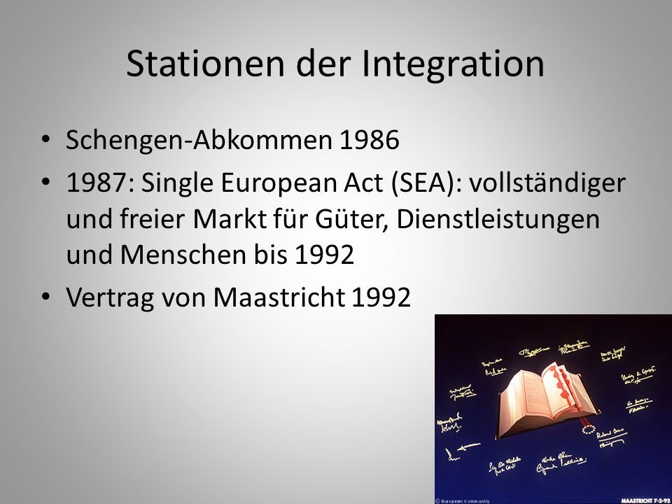 Stationen der Integration