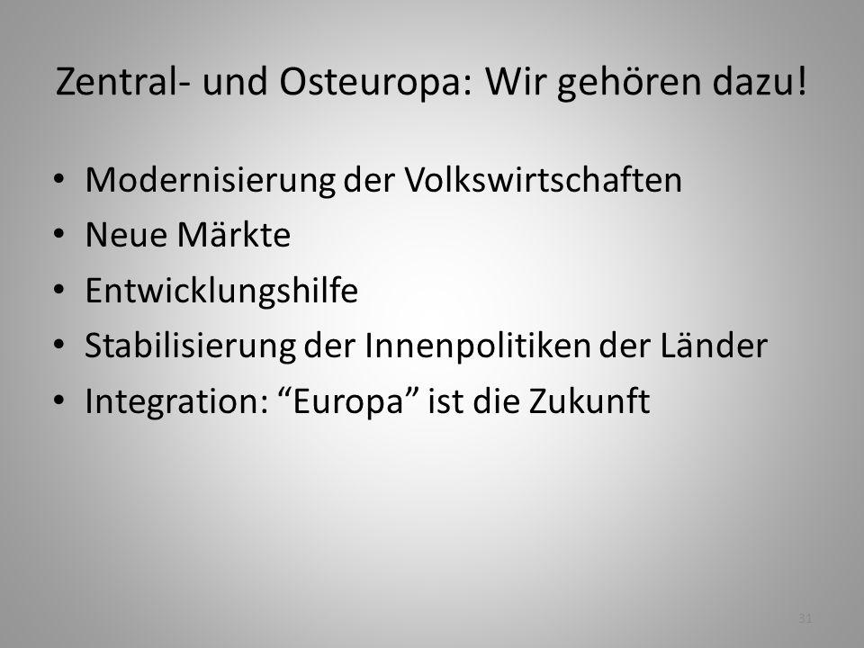 Zentral- und Osteuropa: Wir gehören dazu!