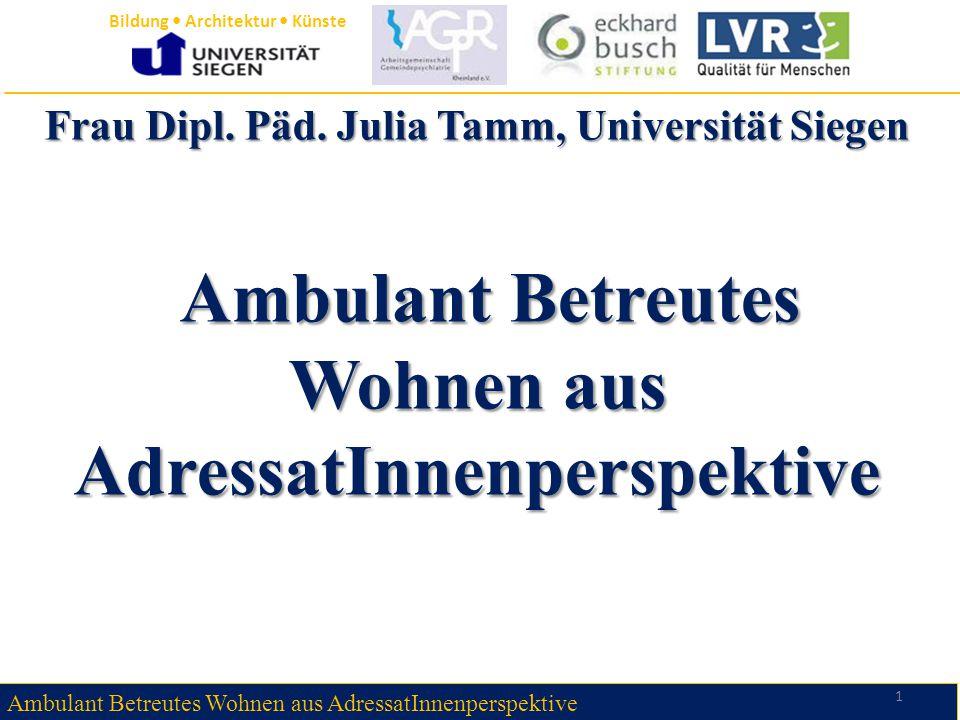 Frau Dipl. Päd. Julia Tamm, Universität Siegen