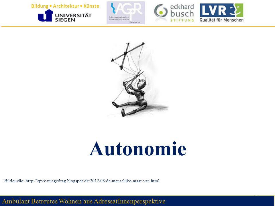 Autonomie Ambulant Betreutes Wohnen aus AdressatInnenperspektive