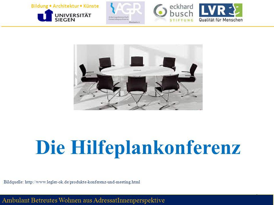 Die Hilfeplankonferenz