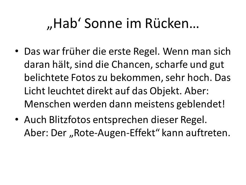 """""""Hab' Sonne im Rücken…"""