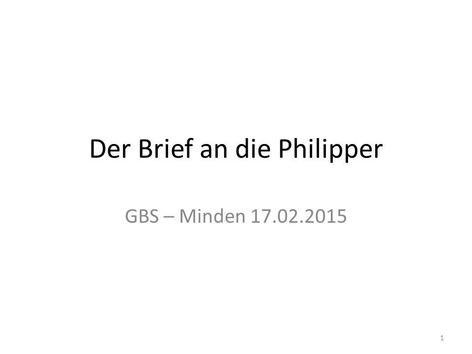 Der Brief an die Philipper