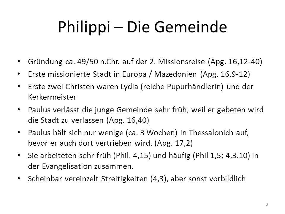 Philippi – Die Gemeinde