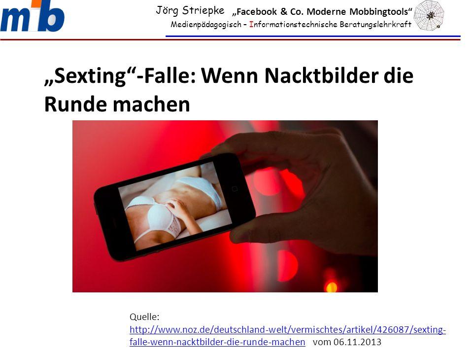 """""""Sexting -Falle: Wenn Nacktbilder die Runde machen"""