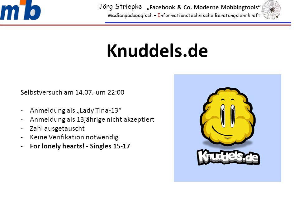 Knuddels.de Selbstversuch am 14.07. um 22:00