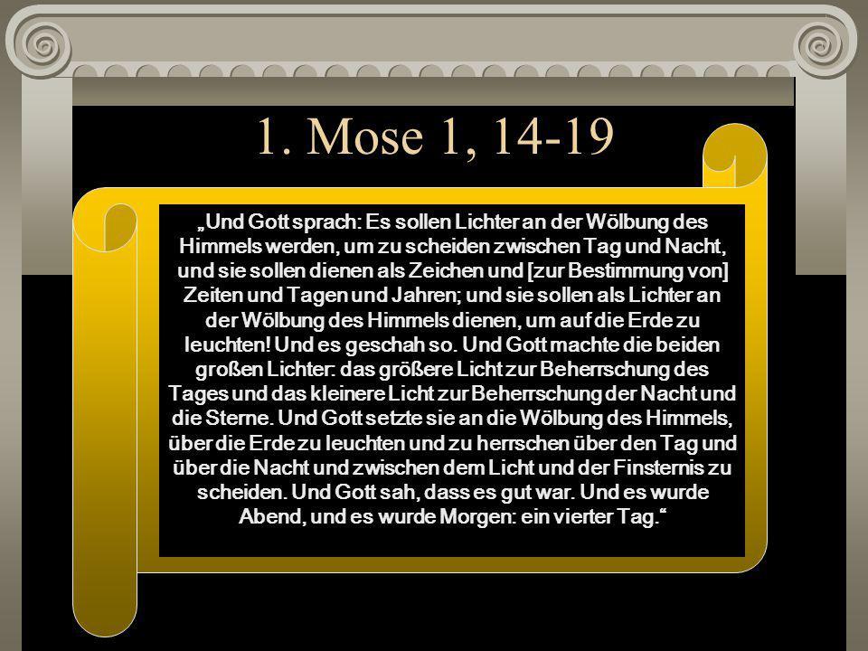 1. Mose 1, 14-19
