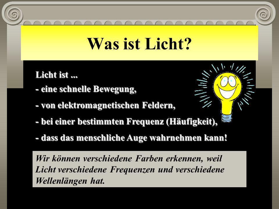 Was ist Licht Licht ist ... - eine schnelle Bewegung,