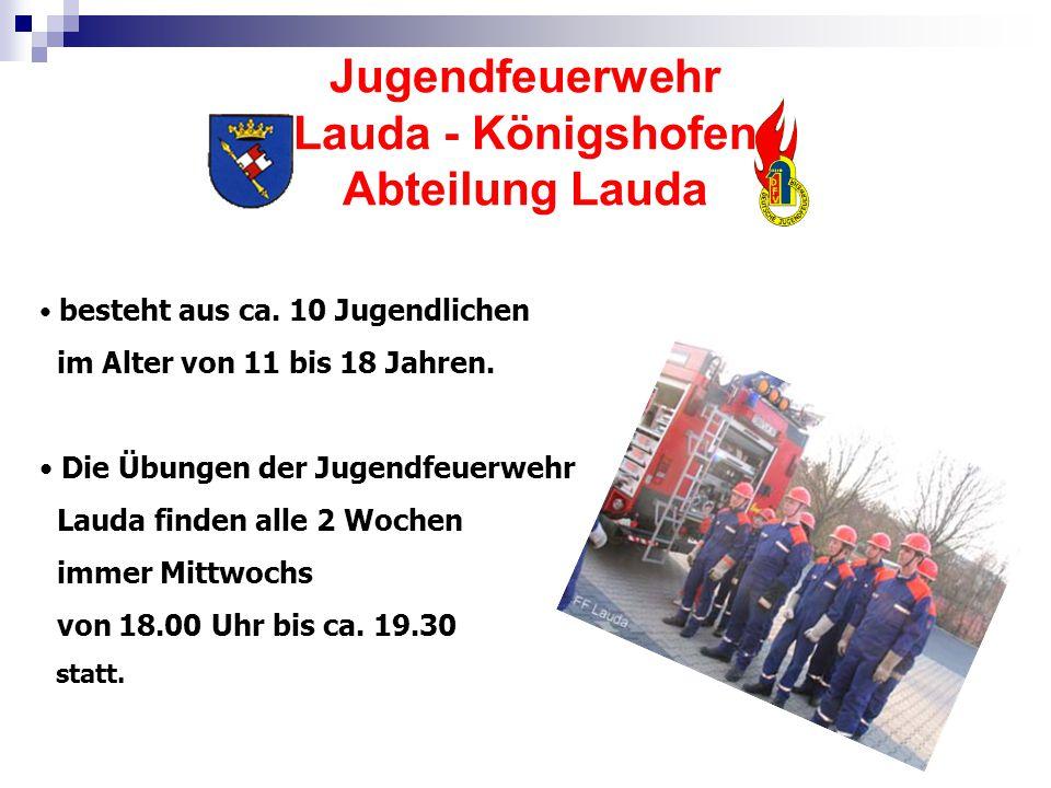 Jugendfeuerwehr Lauda - Königshofen Abteilung Lauda