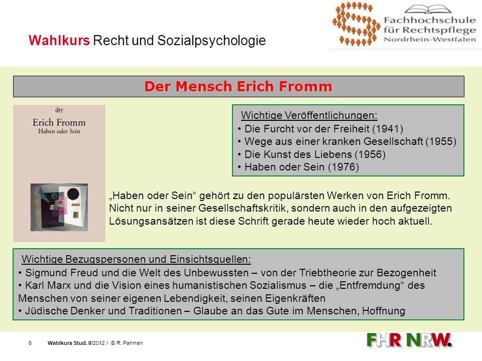 Wahlkurs Recht und Sozialpsychologie