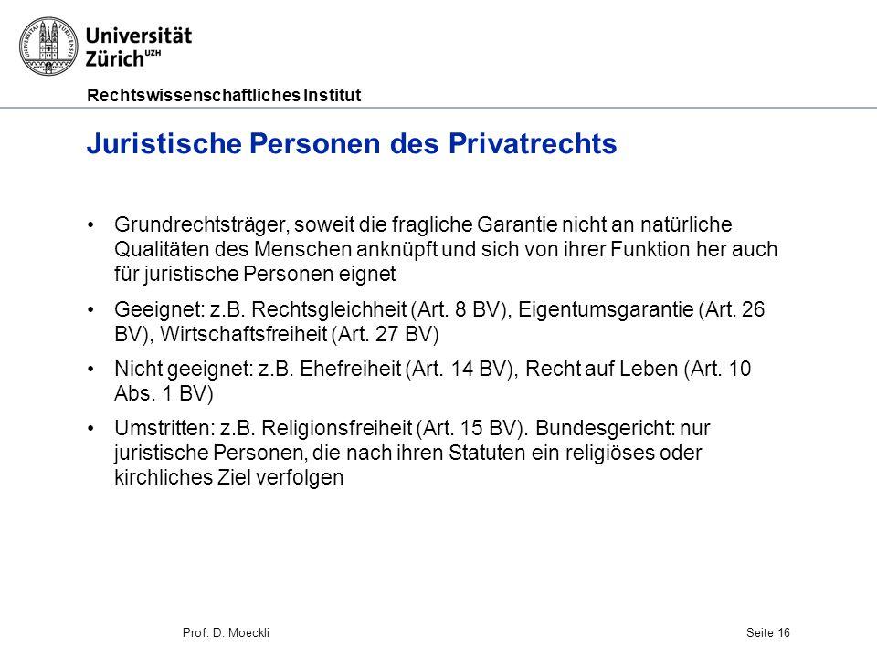 Juristische Personen des Privatrechts