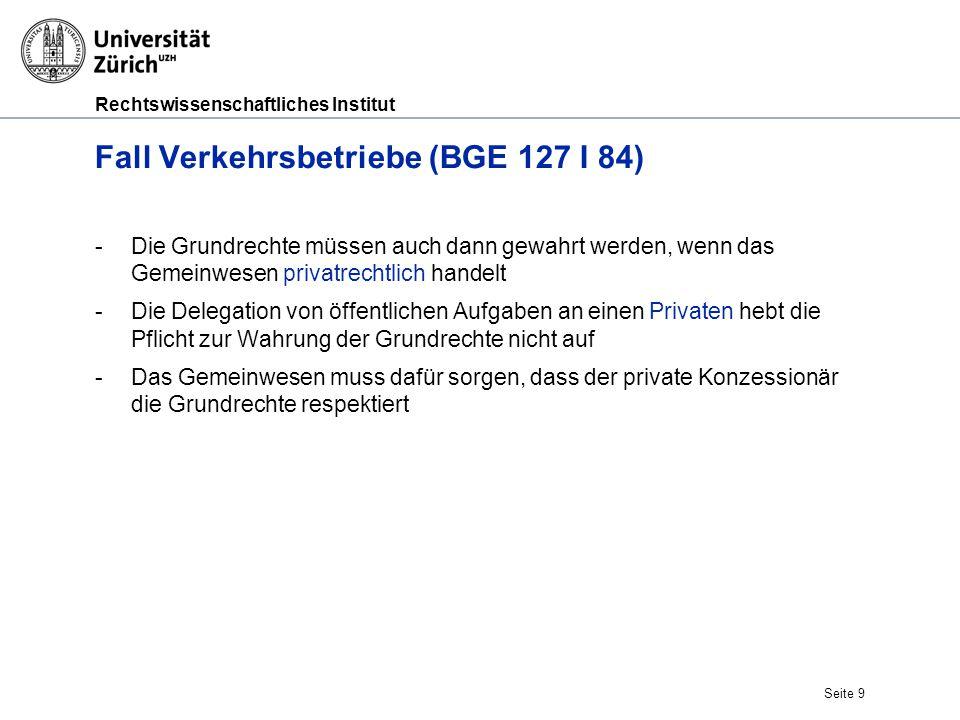 Fall Verkehrsbetriebe (BGE 127 I 84)