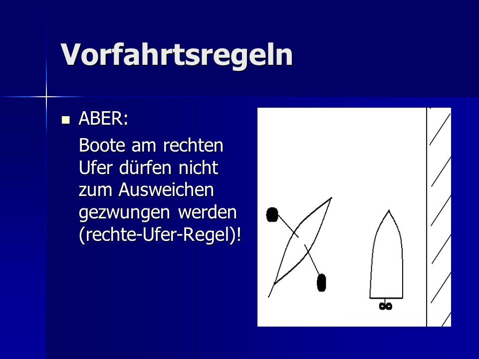 Vorfahrtsregeln ABER: