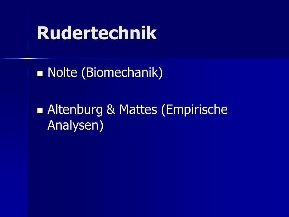 Rudertechnik Nolte (Biomechanik)