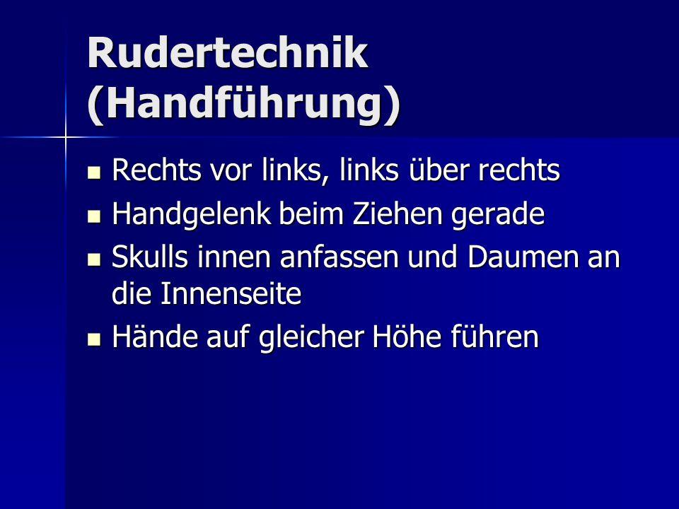 Rudertechnik (Handführung)