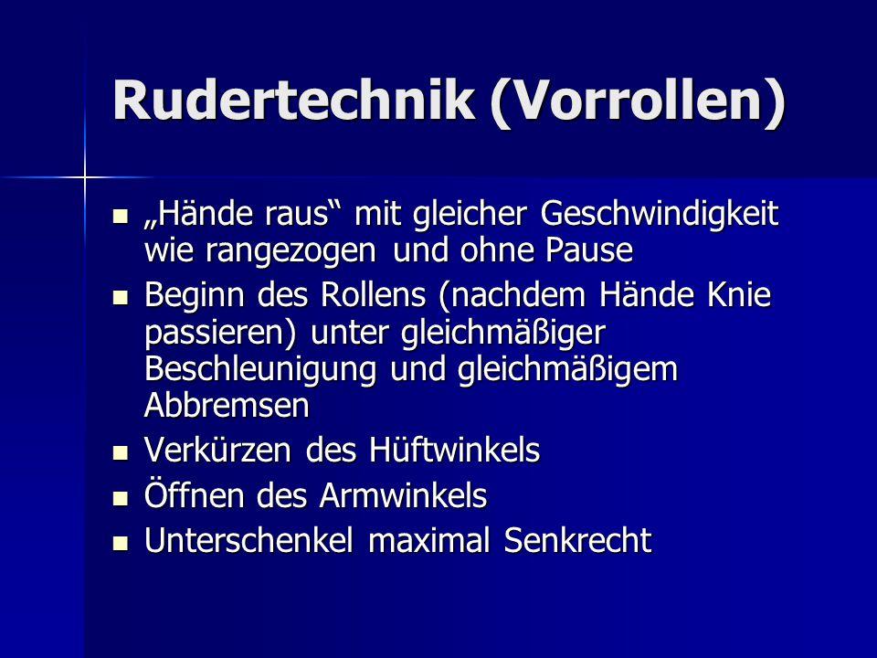 Rudertechnik (Vorrollen)