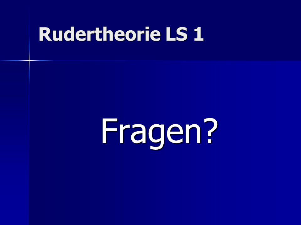 Rudertheorie LS 1 Fragen