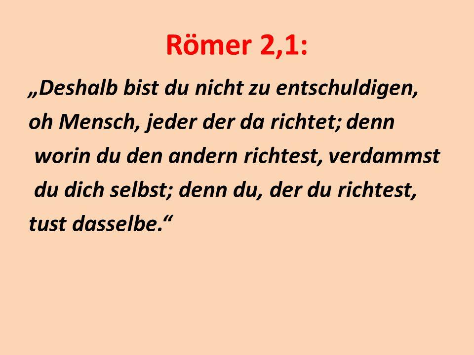 Römer 2,1: