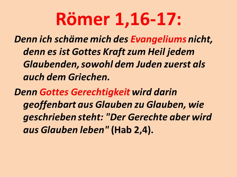 Römer 1,16-17: