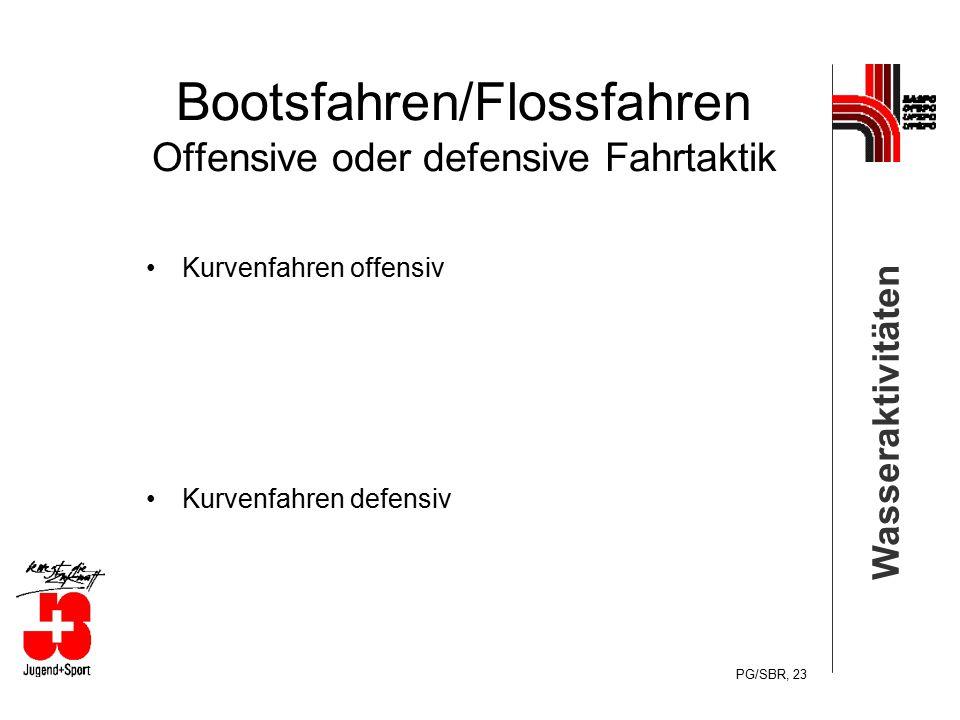 Bootsfahren/Flossfahren Offensive oder defensive Fahrtaktik