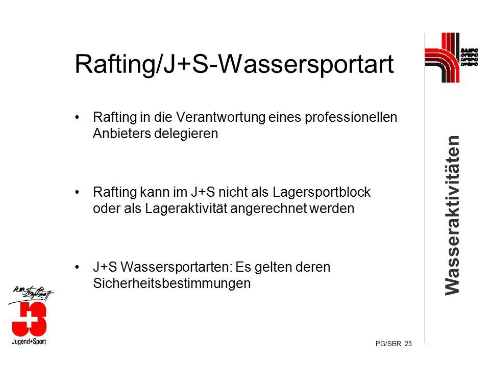 Rafting/J+S-Wassersportart