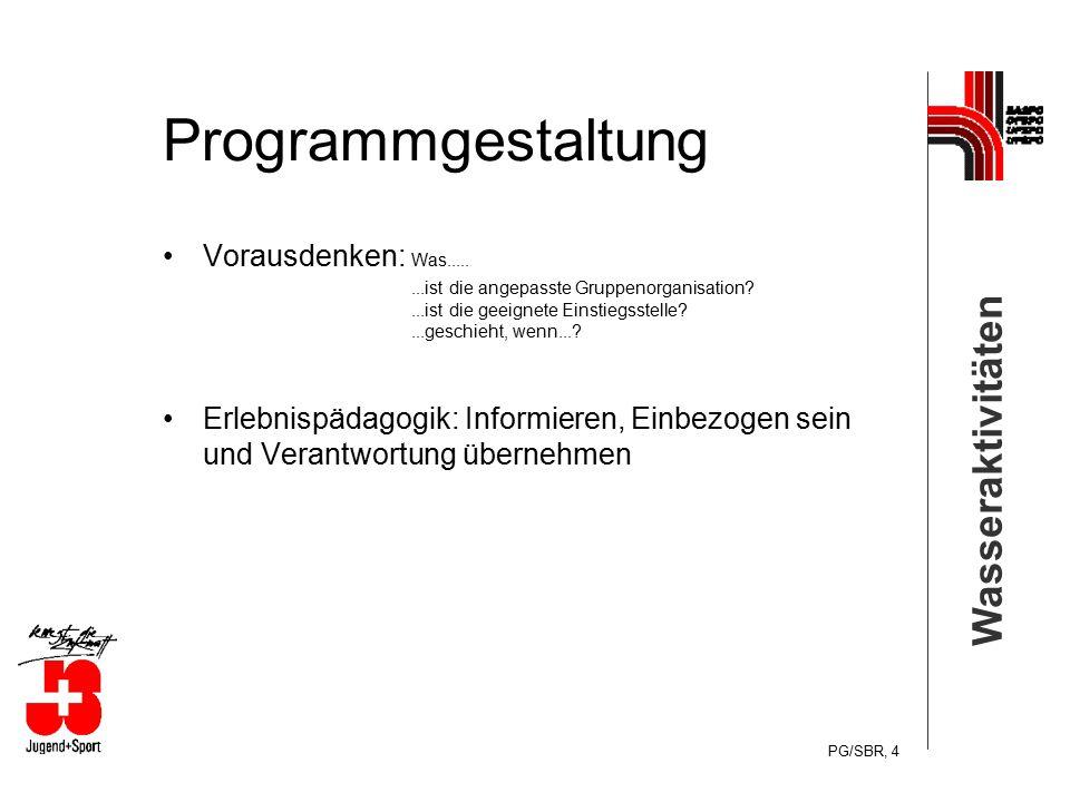 Programmgestaltung Vorausdenken: Was.....