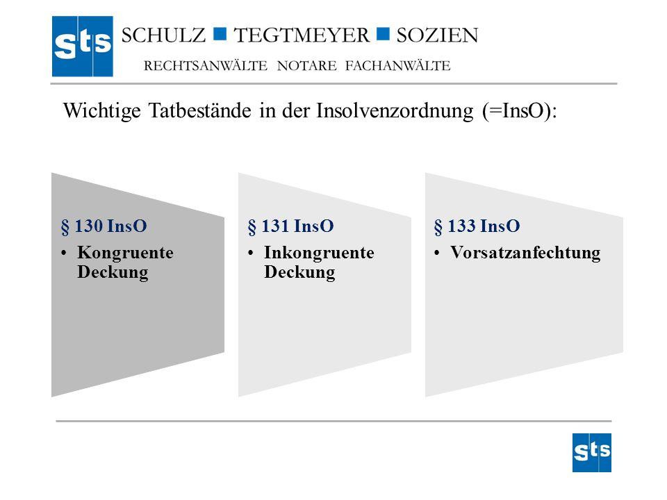 Wichtige Tatbestände in der Insolvenzordnung (=InsO):
