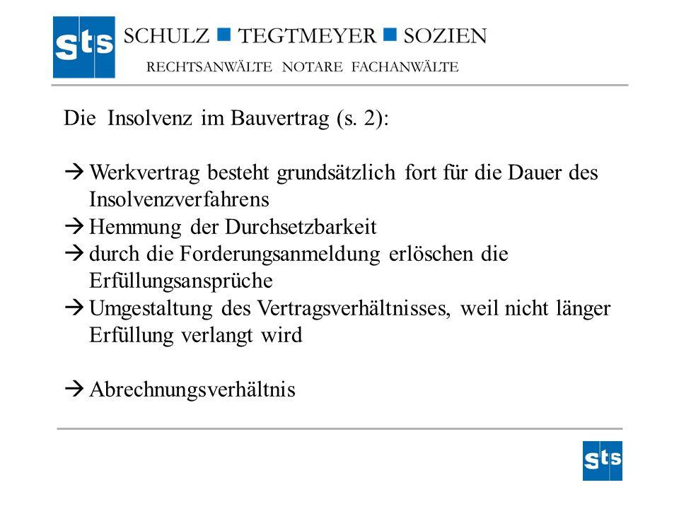 Die Insolvenz im Bauvertrag (s. 2):