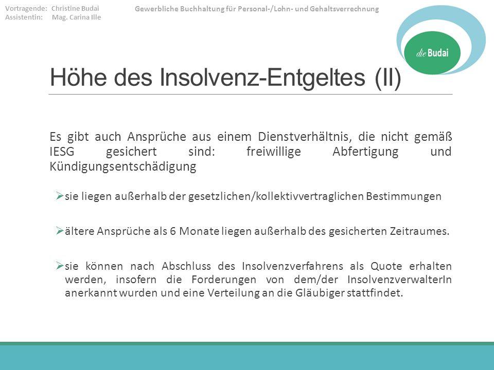 Höhe des Insolvenz-Entgeltes (II)