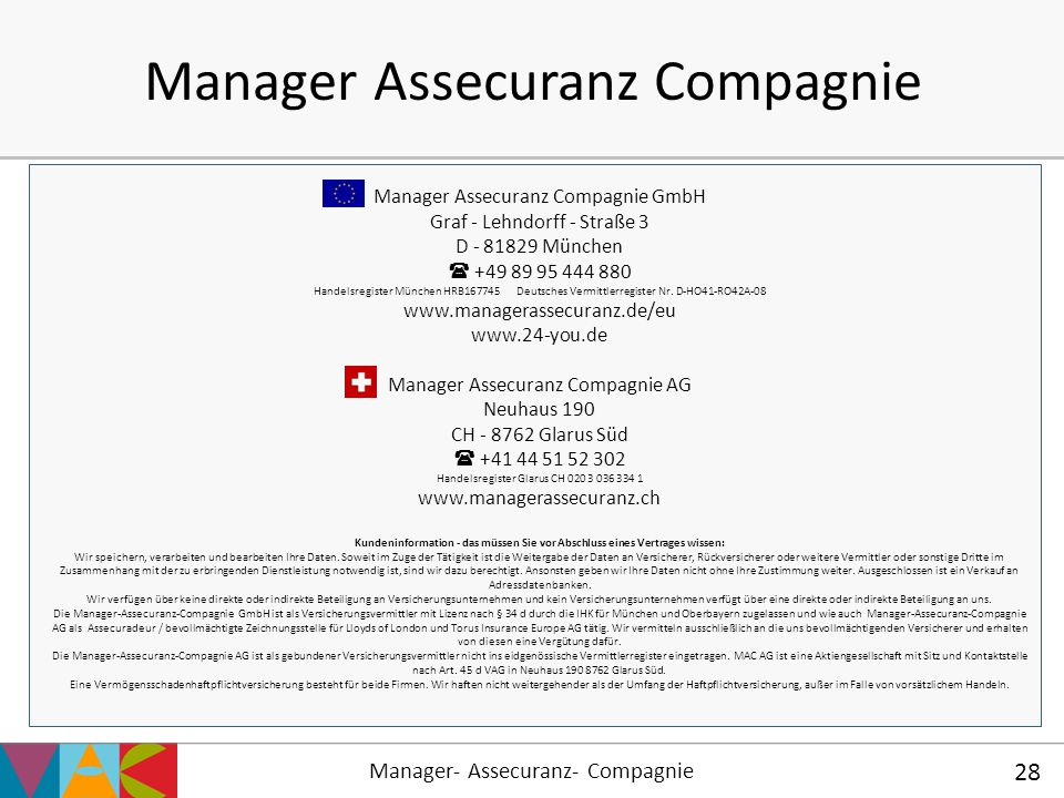 Manager Assecuranz Compagnie