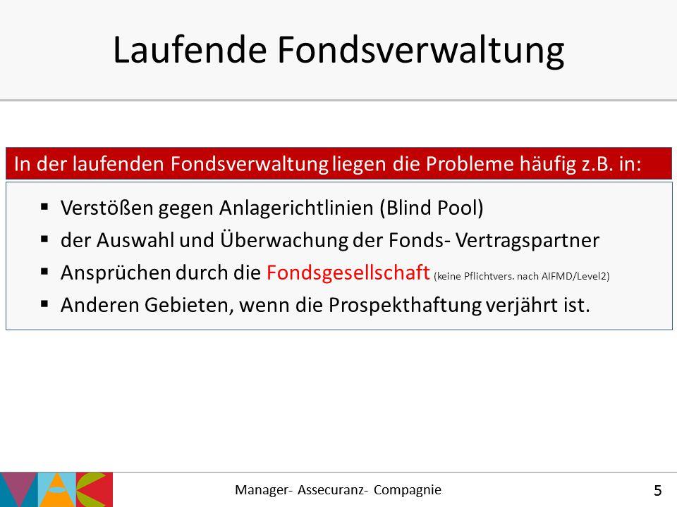 Laufende Fondsverwaltung
