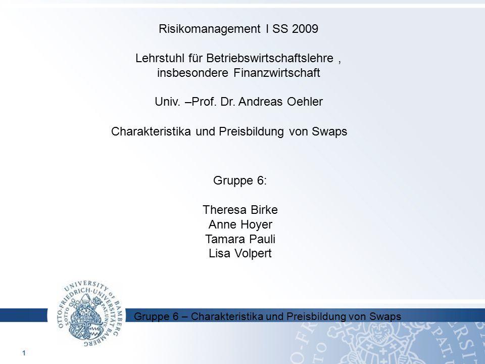 Lehrstuhl für Betriebswirtschaftslehre , insbesondere Finanzwirtschaft