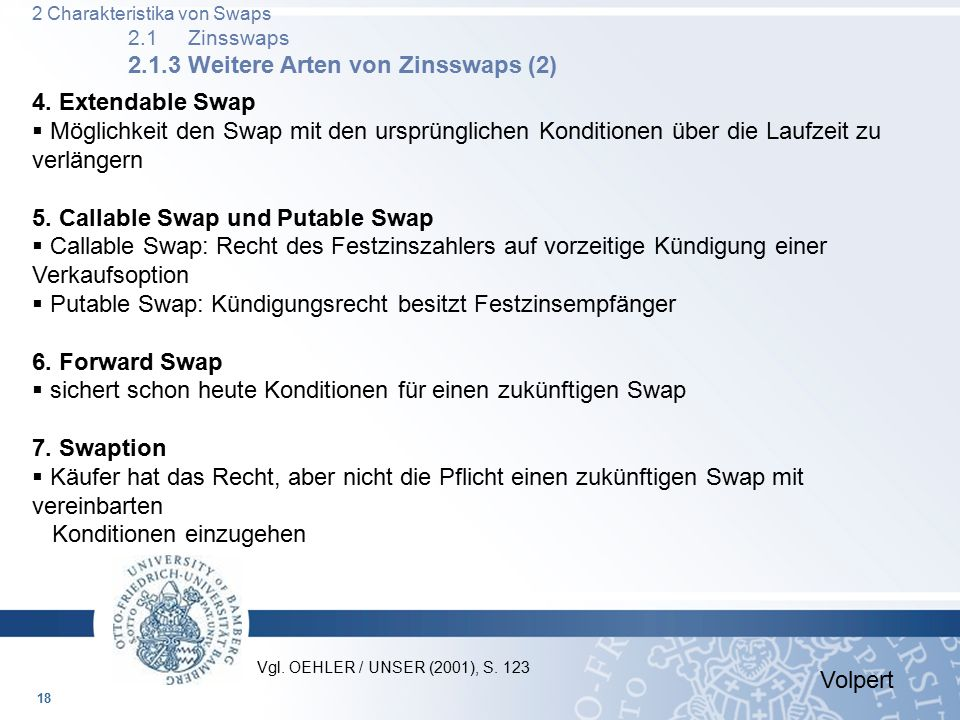 5. Callable Swap und Putable Swap